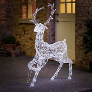 Wilko LED Light Up Reindeer Large 125cm Brand New In Box Sealed