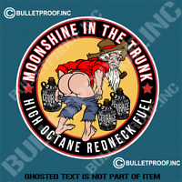 MOONSHINE IN THE TRUNK DECAL STICKER RETRO HOT ROD RAT ROD VINTAGE STICKERS
