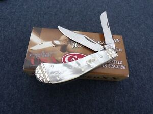 CASE XX * WILD HORSE CUSTOMS 2006 MOTHER OF PEARL SMALL SADDLEHORN KNIFE KNIVES