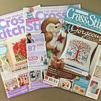 Lot of 3 UK Cross Stitch Magazines World of Cross Stitching Cross Stitcher