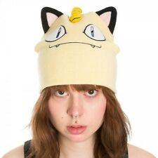 OFFICIAL POKEMON MEOWTH BIG FACE WITH EARS BEANIE HAT *BRAND NEW*