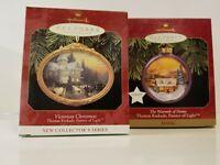Hallmark Keepsake Ornament Lot 2 Thomas Kinkade Warmth Home Victorian Christmas