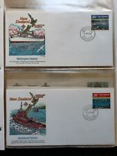 Small International Ships Fdc Album - 13 Fdc with Boat Themes, Mostly 1980's