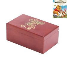 Wooden Rectangle Engrave { WINNIE THE POOH  } Jewelry Music Box