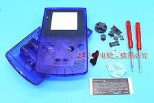 VS Transparent Blue Housing Shell Case+Screwdrivers f Nintendo Gameboy Color GBC