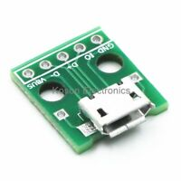 20x micro usb to DIP 2.54mm adapter connector module board panel female 5-pin DT
