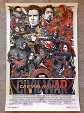 Tyler Stout Captain America Civil War Signed Variant Mondo Poster Print End Game