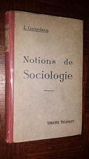 NOTIONS DE SOCIOLOGIE - L. Contardarin 1938