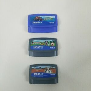 Vtech Innotab Games Lot Of 3 Cartridges Mickey Mouse Disney Brave The Penguins