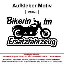 Bikerin im Ersatzfahr - Autoaufkleber Aufkleber Fun Spaß Sticker Lustige Sprüche