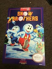 """Snow Brothers Bros NES Nintendo Video Game Cover Art Poster - 12"""" x 18"""""""