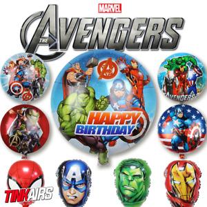 Marvel Avengers  Helium Luftballons Geburtstag Spider-man Hulk Iron Man Birthday