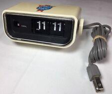 Vintage OLD STYLE BEER Copal Flip Clock w/ Orange Light Made in Japan Model: 225
