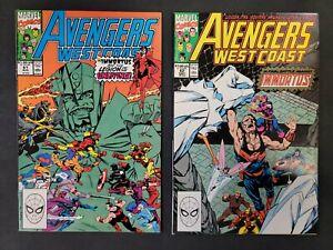 Avengers West Coast #61 & #62  1st Time Keepers