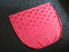 Red Cotton Christmas Tablecloth 8x5 Rectangular, Floral Holly Poinsettia Solid