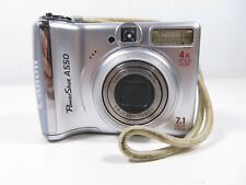 Canon PowerShot A550 7.1MP Digital Camera with free case - Silver