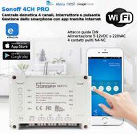 Centrale domotica 4CH interruttore pulsante telecomando WiFi comando APP Sonoff