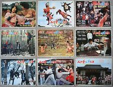 """Set of (11) chinese Lobby Card Lcs GOLDEN MASK Kung Fu Movie Poster 11x14"""" 1977"""