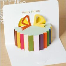 3D Pop Up Greeting Cards Birthday Children's Small Thanks Greeting Card