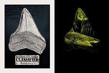 Jaws Movie Art Print Movie Poster Mondo Hooper Quint Brody Glows Dark! Qfschris