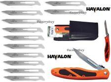 Havalon Knives Piranta Edge Skinning Folding Field Knife Orange + Blades 60AEDGE