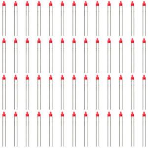 LED19DR 50pcs Diffused Red Miniatronics 1.8mm Led & Free Resistors
