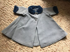 New ListingVintage Madame Alexander tagged blue doll coat with velvet collar & cuffs