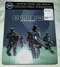 New Star Wars Rogue One 3D+2D Blu-ray DVD Steelbook Bestbuy Exclusive USA