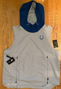 Nike NFL Fly Rush Shield Hoodie Indianapolis Colts Gray AO4326-007 Men's 2XL