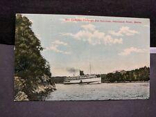 Steamer CAMDEN, Penobscot River, Bangor, Maine Naval Cover 1912