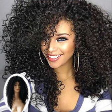 High Quality Women Kinky Curly Full Human Hair Wigs Front Curly Hair Wigs