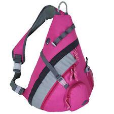 """20"""" HBAG Single Strap Backpack Sling Shoulder Bag School Gym Daypack, Pink"""