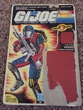 GI Joe Action Figure Full Back File Card ARAH Vipers