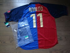 Barcelona #11 Rivaldo 100% Official Reissue 1999/2000 Centenary Home Jersey XL