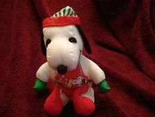 "WHITMAN'S CHRISTMAS SNOOPY ELF PLUSH ANIMAL W APRON  6"" HOLDS BOX CHOCOLATES"