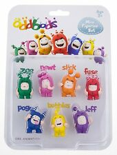 Oddbods Mini Figurine Set - Zee Fuse Newt Slick Bubbles Pogo Jeff NEW