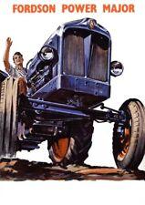 Vintage Fordson Modelo F en el campo FOLLETO CARTEL ANUNCIO FOLLETO A3