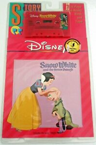 """NEW, Disney's """"Snow White"""" Read-Along 24-page Book & Tape, Vintage 1992 w/ Song"""