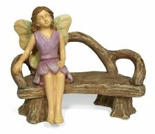 Fairy On Bench, A Quiet Rest, Sitting Fairy, Miniature Bench, Mini Garden Bench