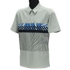 Oakley Premier Palm Polo Mens Size XXL Light Grey Print Golf Casual Tee Shirt