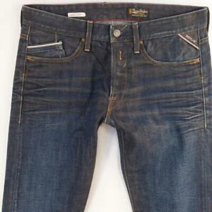 Mens Replay M983 WAITOM Slim Straight Blue Jeans W33 W32 L32