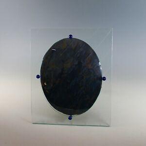 Unusual Antique Convex Bubble Glass Jeweled Photo Frame
