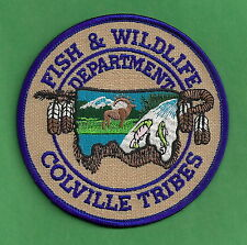COLVILLE TRIBES WASHINGTON FISH & WILDLIFE ENFORCEMENT POLICE PATCH