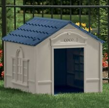 "Suncast Indoor Outdoor Dog House Large Safe Home Shelter Durable 33""x 38.5""x 32"""