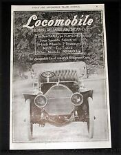 1907 OLD MAGAZINE PRINT AD, LOCOMOBILE AUTOMOBILE, MOST RELIABLE AMERICAN CAR!