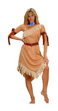 ADULT NATIVE AMERICAN POCAHONTAS WOMENS COSTUME INDIAN PRINCESS LADY BROWN BEIGE