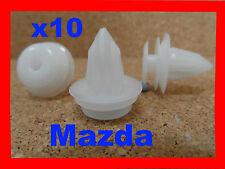 10 MAZDA door panel body trim fasteners clips bump strips