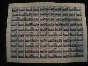Finland stamp 1939 red cross full sheet, MNH,scottB38, norma239,lape220