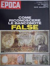 Epoca 1061 1971 Come riconoscere false banconote.Teatro lirico:Giuseppe Patanè