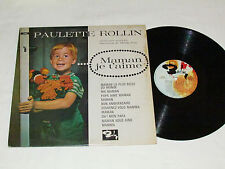 PAULETTE ROLLIN Maman Je T'aime LP Barclay Records Canada French Album Vinyl